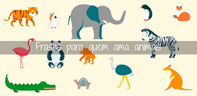 Frases inspiradoras sobre animais