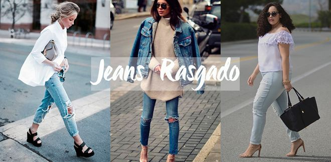Em alta: jeans rasgado