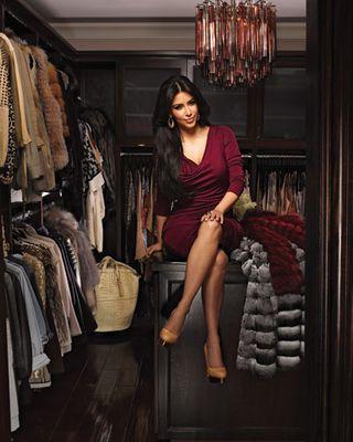 Le cabine armadio delle star: Kim Kardashian