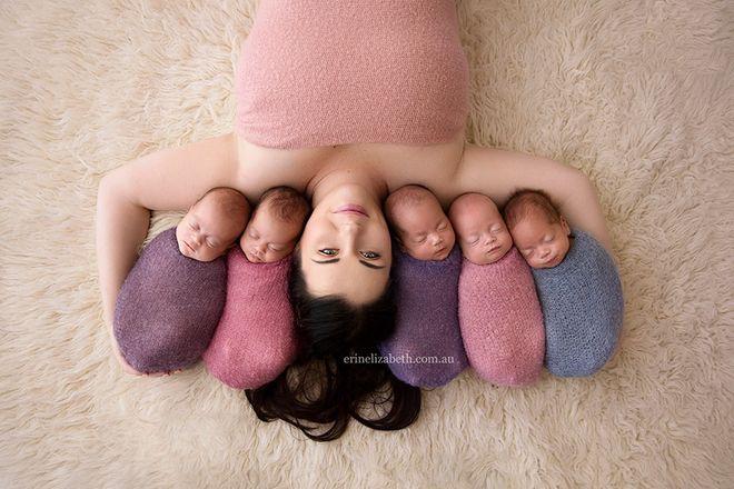 Cinque gemelli australiani, le foto più dolci