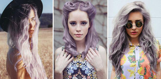 Coloración smokey lila, la versión renovada del granny hair