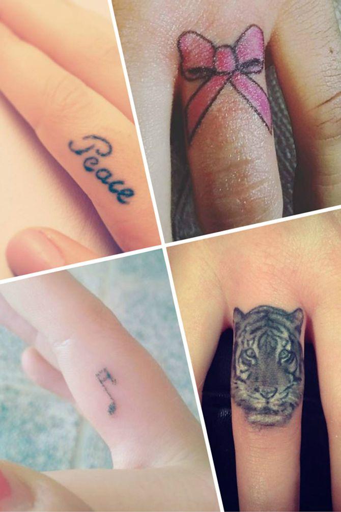 40 idées de tatouages de doigt originaux