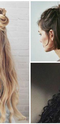 Penteados meio presos meio soltos = equação capilar perfeita!