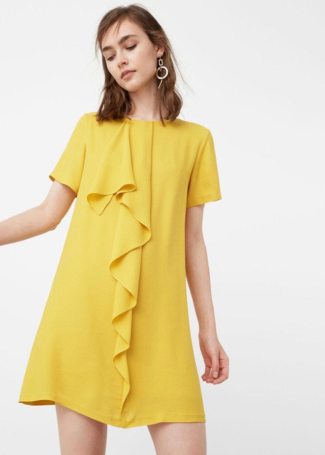 Vestito giallo Mango autunno inverno 2016 2017