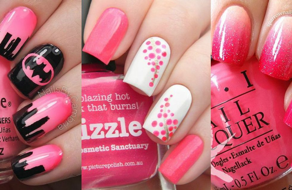 Uma nail art rosa para chamar de sua!
