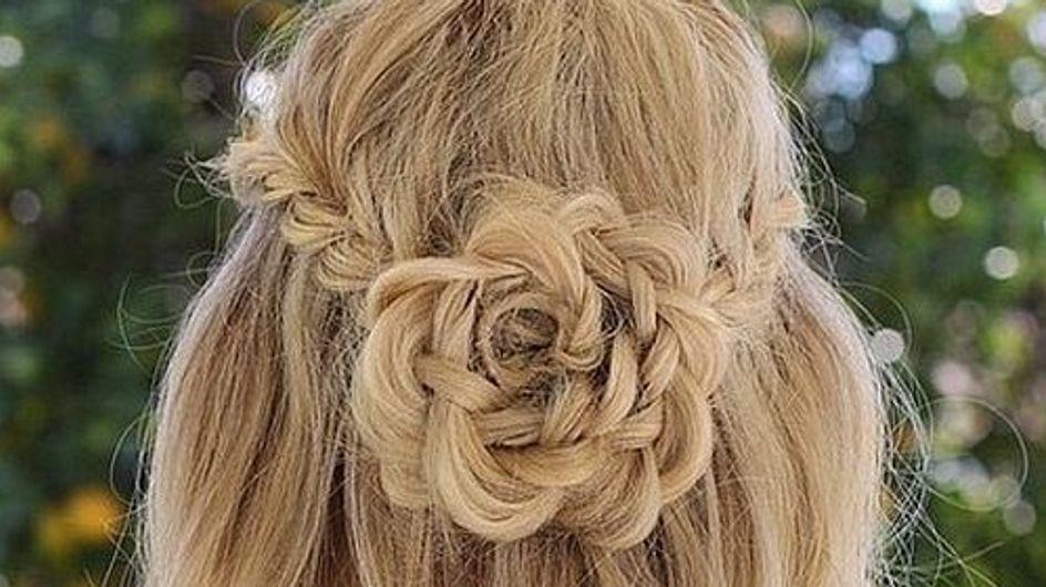 Trenzas en forma de flor, el peinado que no te podrás sacar de la cabeza