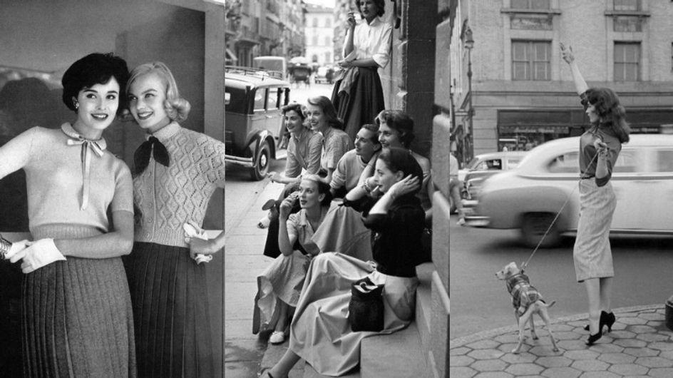 O street style nos anos 1950 era assim