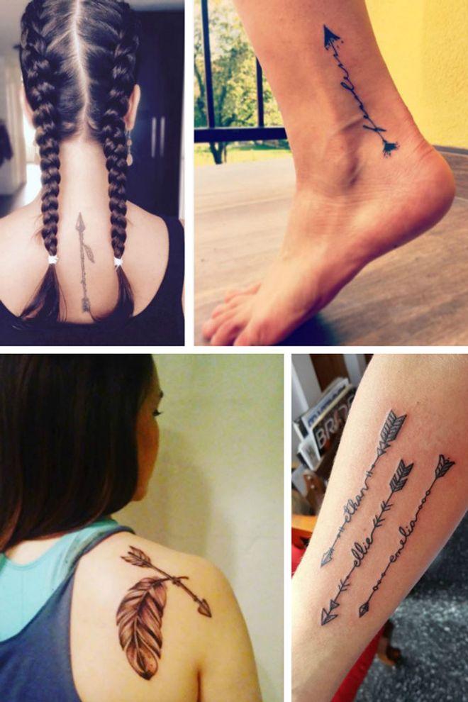 50 idées de tatouages flèche repérés sur Instagram