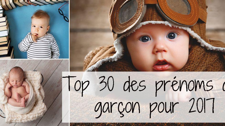 Top 30 des prénoms de garçon pour 2017