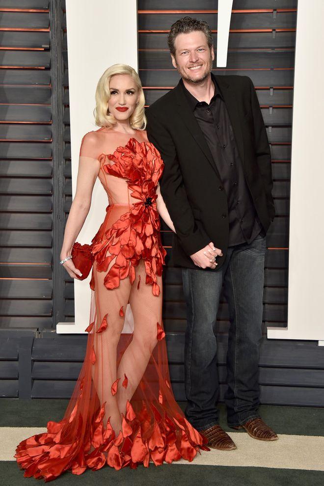 Avec cette fabuleuse robe rouge à la soirée des oscars de Vanity Fair en 2016.