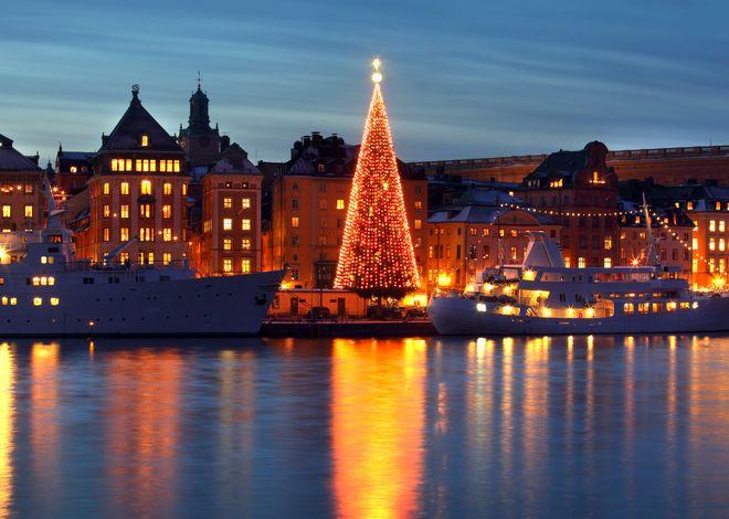 Luces de Navidad en Estocolmo, Suecia
