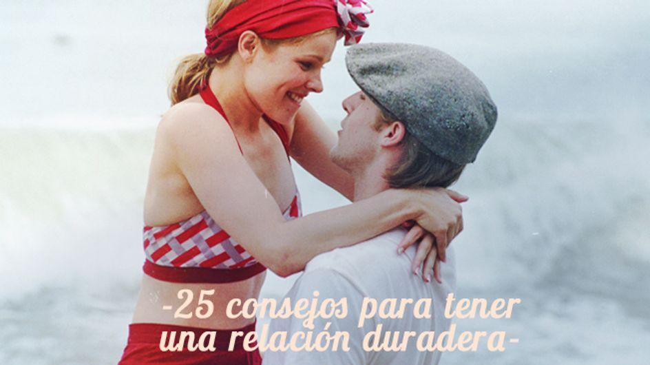 25 consejos muy útiles para que tu relación funcione