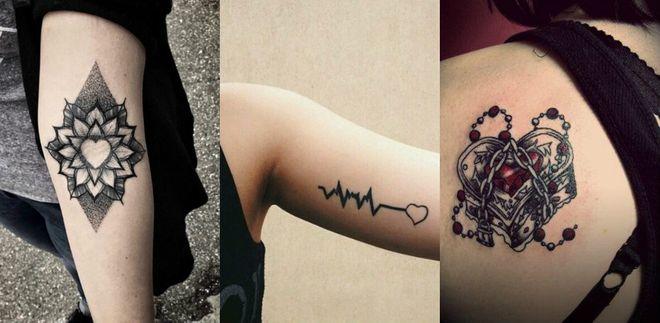 Tatuagens de coração