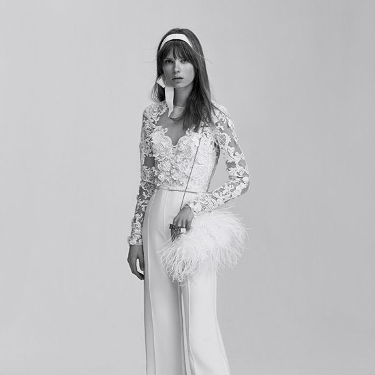 vestidos de novia con pantalones : foto - enfemenino