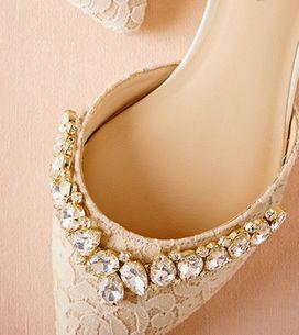 Os melhores do Pinterest: sapatos flat para noivas