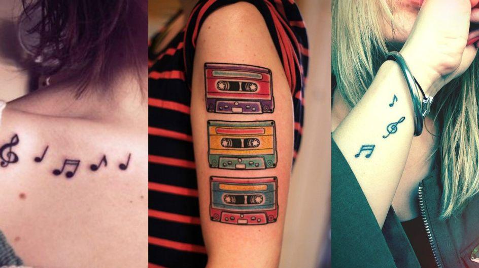 Apaixonadas por música precisam ver essas tatuagens