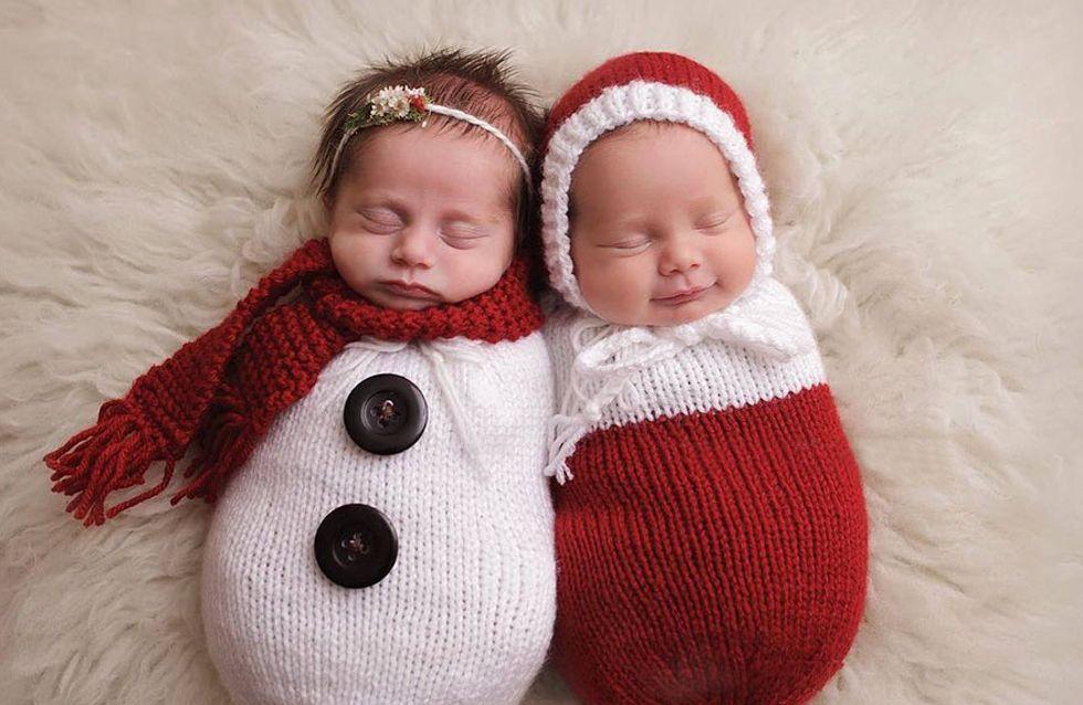 ¡Las imágenes más tiernas! Así celebran los bebés su primera Navidad
