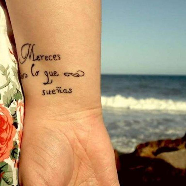 Tatuajes Frases Español Foto Enfemenino