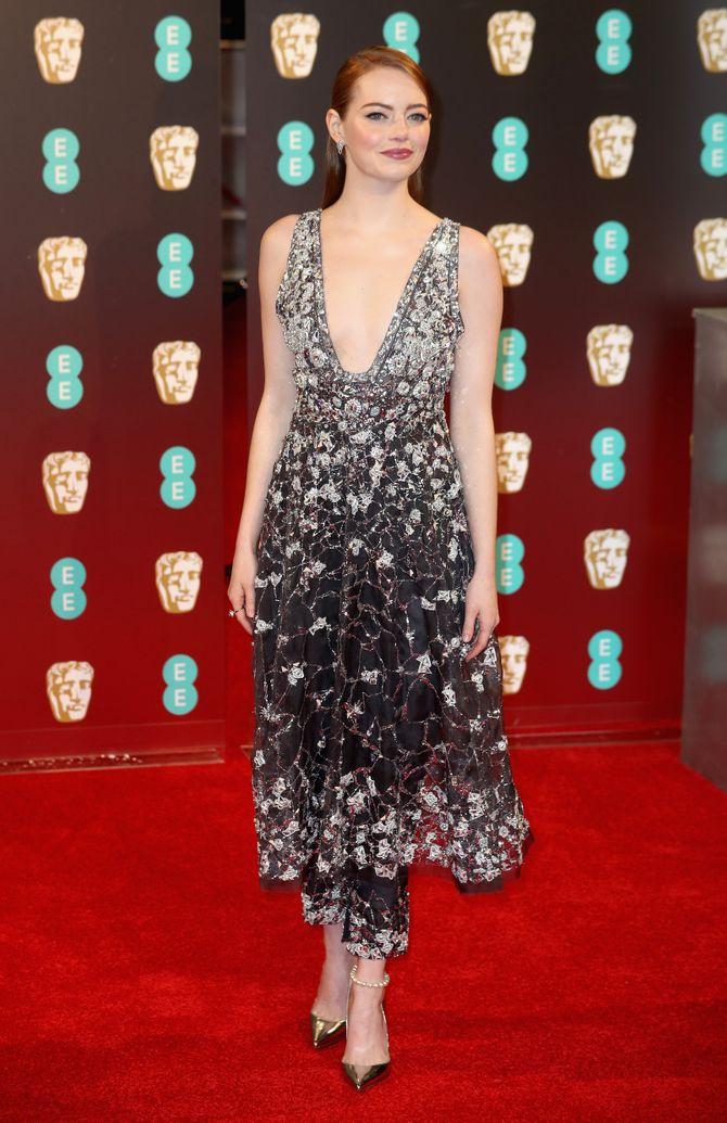 Emma Stone - La alfombra roja de los BAFTA 2017