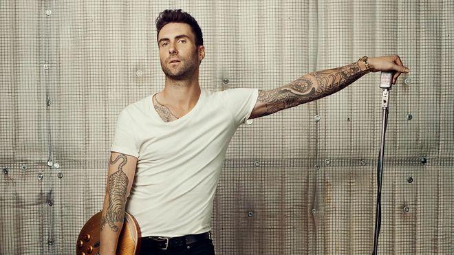 Adam Levine, el hombre más sexy sobre el escenario