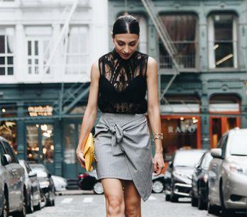 Domine a arte de vestir uma saia de amarrar