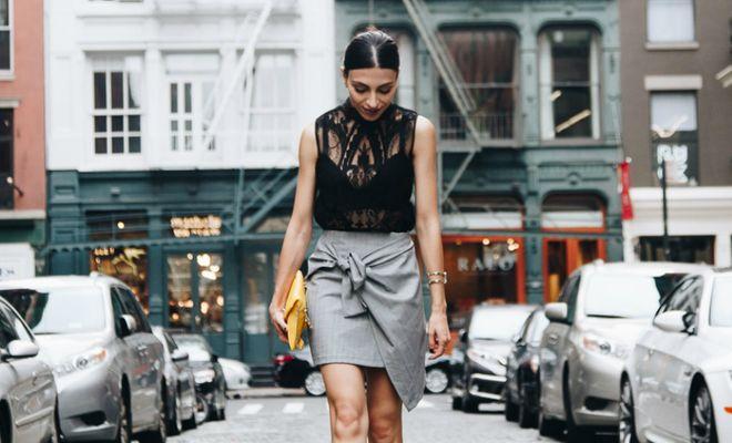 Jeitos incríveis de usar saia com nó frontal