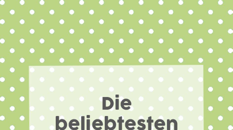 Überraschung! Die TOP 35 der beliebtesten Babynamen in Deutschland