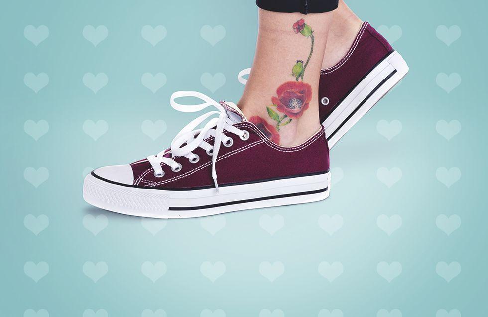Nos tatouages coups de coeur pour habiller une cheville