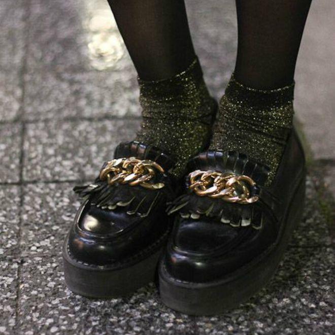 Truque de styling: meias aparecidas