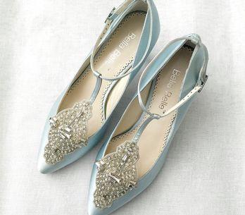 Something blue... sapatos azuis para noivas