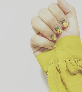 Para tudo porque essas nail arts de abacaxi são muito fofas!