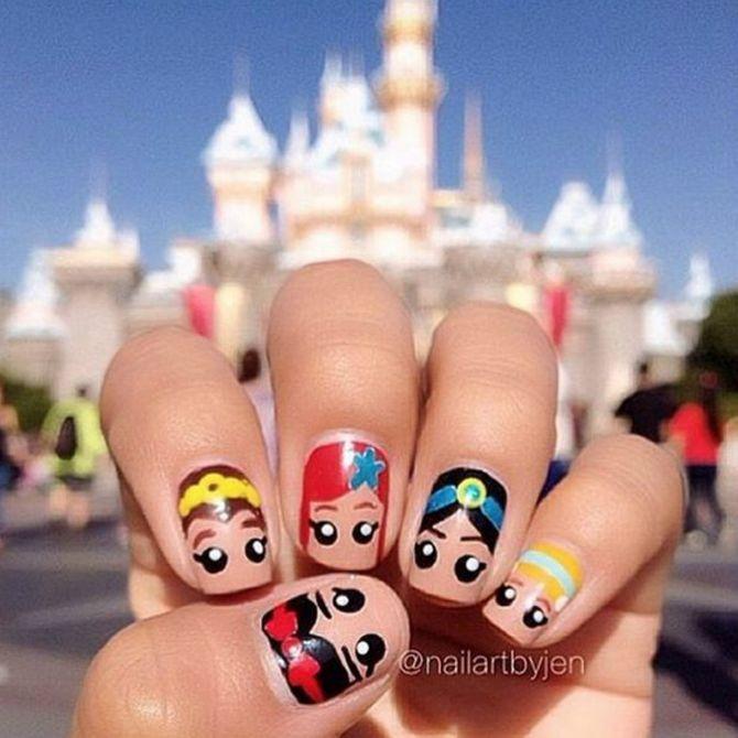 Nail arts inspiradas em filmes da Disney <3
