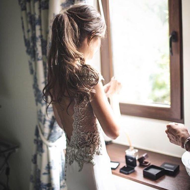 Peinado novia con coleta