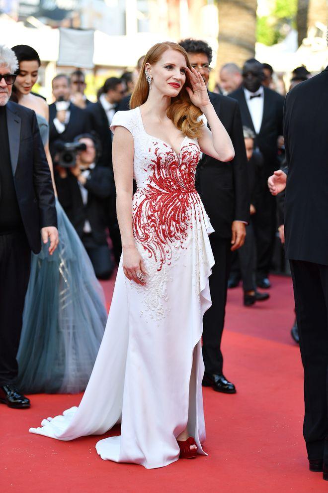 La alfombra roja delJessica Chastain -  Festival de Cannes 2017