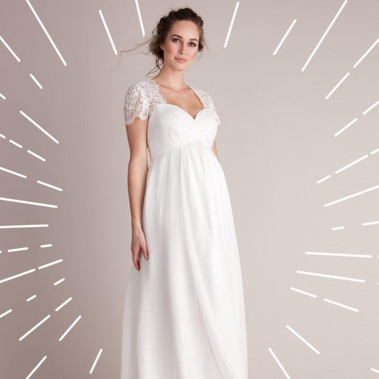Welches Brautkleid Fur Schwangere Das Sind Die Schonsten Schnitte