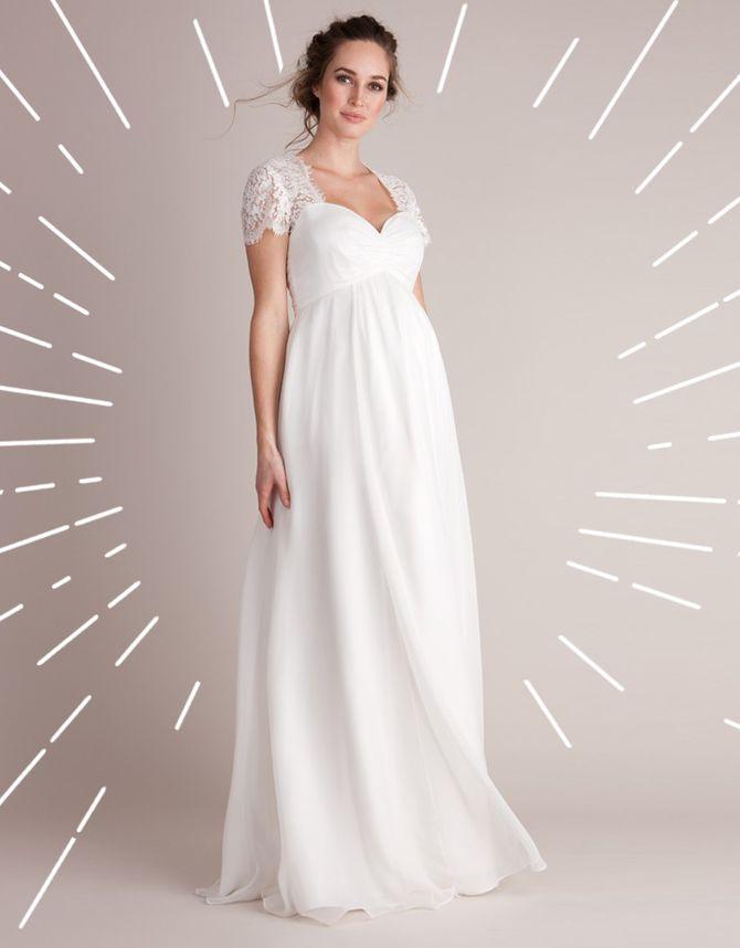Brautkleider für Schwangere: Das sind die schönsten Modelle