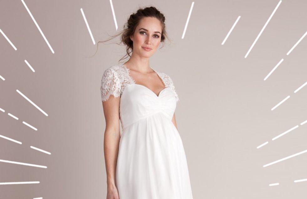 Brautkleider für Schwangere: In DIESEN Schnitten seht ihr umwerfend aus!