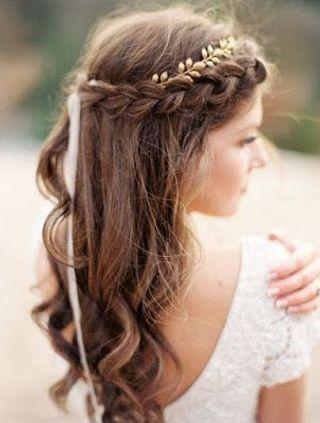Peinados de boda en cabello largo
