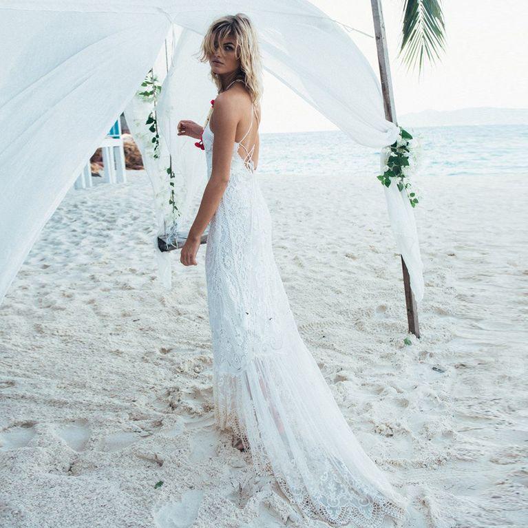 newest 89c76 207d7 Brautkleider Strandhochzeit: Diese Hochzeitskleider sind ...