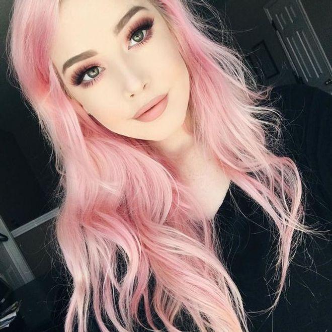 Make & cabelos coloridos combinando <3