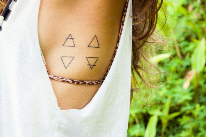 Tatuagens com os símbolos dos quatro elementos