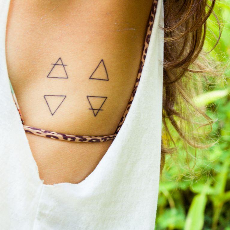 Tatuajes De Los 4 Elementos Agua Fuego Tierra Aire Foto Enfemenino