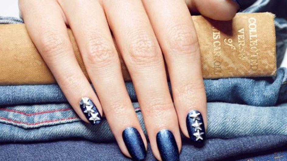 Denim nails: la tendencia vaquera llega a las uñas