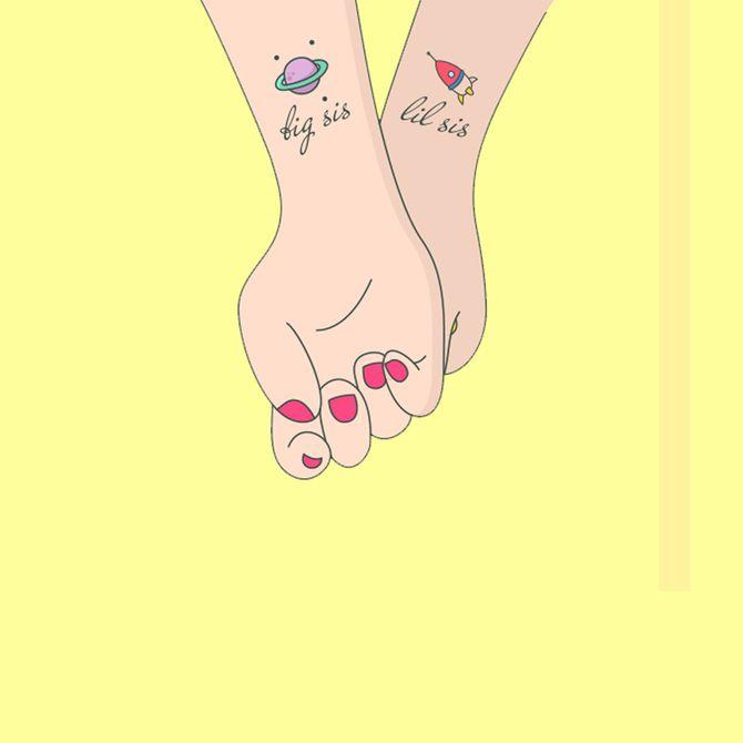 Matching-Tattoos für Geschwister