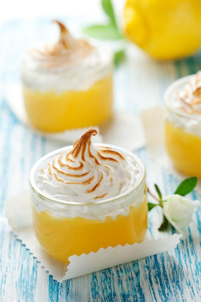 Verrine meringue et mousse au citron sans oeufs