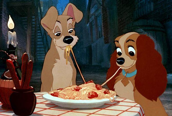 Les spaghetti bolognaise de la Belle et le Clochard
