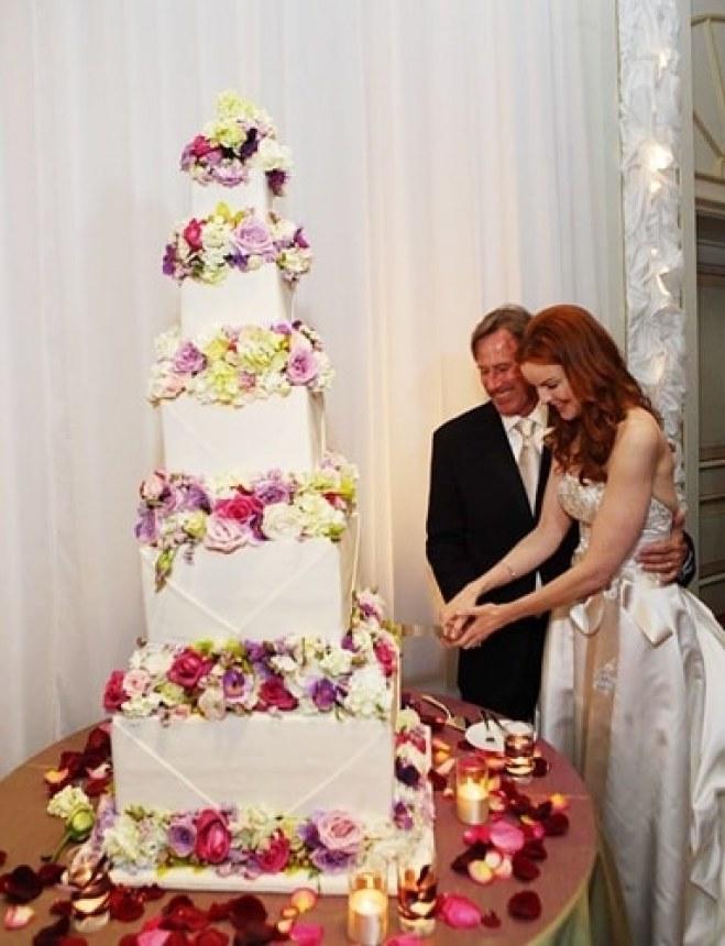 Le gâteau de mariage de Marcia Cross