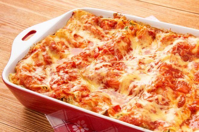 Lasagnes végétariennes courgettes, tomates, oignons
