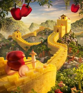 Bluffants, des paysages uniquement réalisés avec des aliments de Carl Warner 🍉 !!!