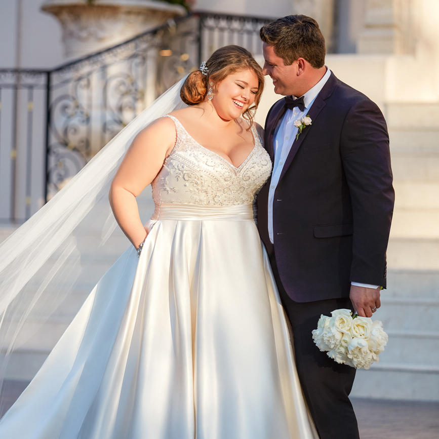 Brautkleid für dicke arme